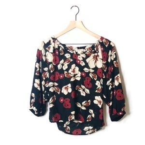 Lucky Brand Floral 3/4 Blouse